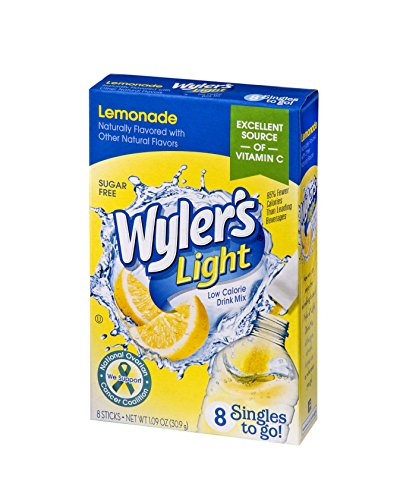 Wyler's Light Singles To Go Powder Packets, Water Drink Mix, Lemonade, 96 Single Servings (Pack of 12) -