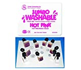 Mozlly Value Pack - Center Enterprises Hot Pink Jumbo Washable Stamp Pad AND Heads and Tails Coins Stamps - Penny, Nickel, Dime, Quarter, Half Dollar - Arts and Crafts (10pc Set) (2 Items)