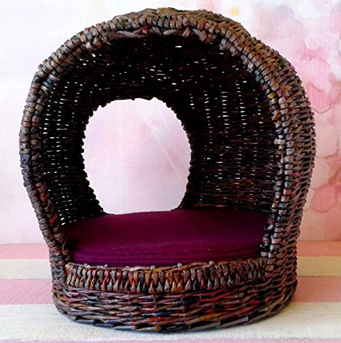 for Doll. Whimsical Unique Modern Miniature Garden Armchair. 1:6 Furniture ()