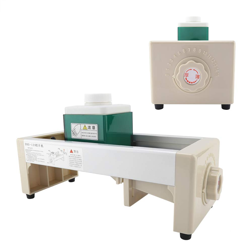 Commercial Fruit Vegetable Slicing Machine, Adjustable Thickness Fruit and Vegetable Slicing Machine Shop Bar Restaurant Commercial Use by Taidda