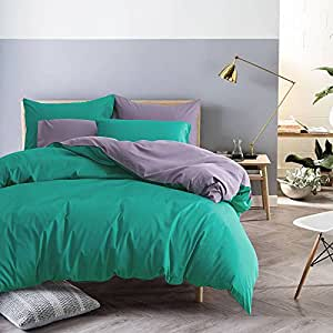 Simple solid color cotton four set colour matching bed linen set of 4 solid bedding,King,P