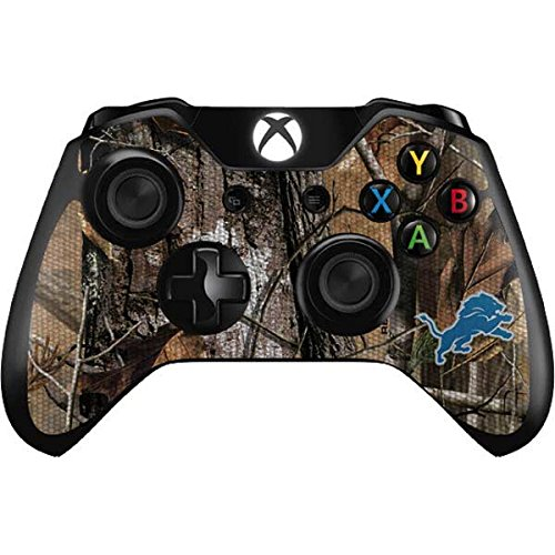 Skinit Detroit Lions Realtree AP Camo Xbox One Controller Skin - Officially Licensed NFL Gaming Decal - Ultra Thin, Lightweight Vinyl Decal Protection