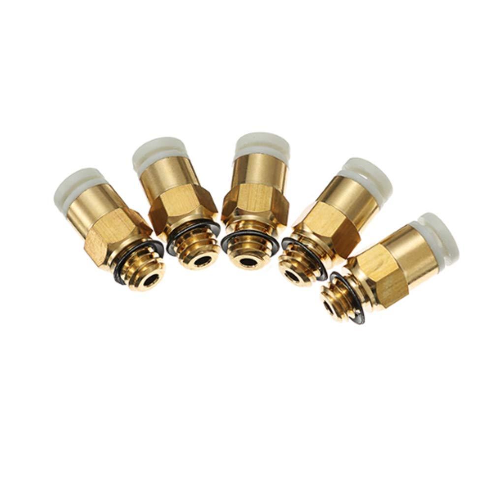 LIUYUNE,Joint Rapide de connecteur pneumatique de buse de Filetage M6 pour Ender 3 CR-10S Color:Or