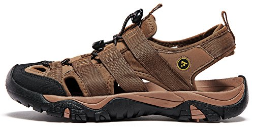 ATIKA AT-M107-BRN_Men 11 D(M) Men's Sports Sandals Trail Outdoor Water Shoes 3Layer Toecap M107 by ATIKA (Image #6)