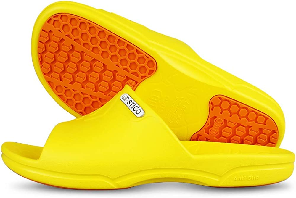 STICO Mens Chef Kitchen Shoes Non-Slip Anti Slip Rubber Occupational BLACK noo