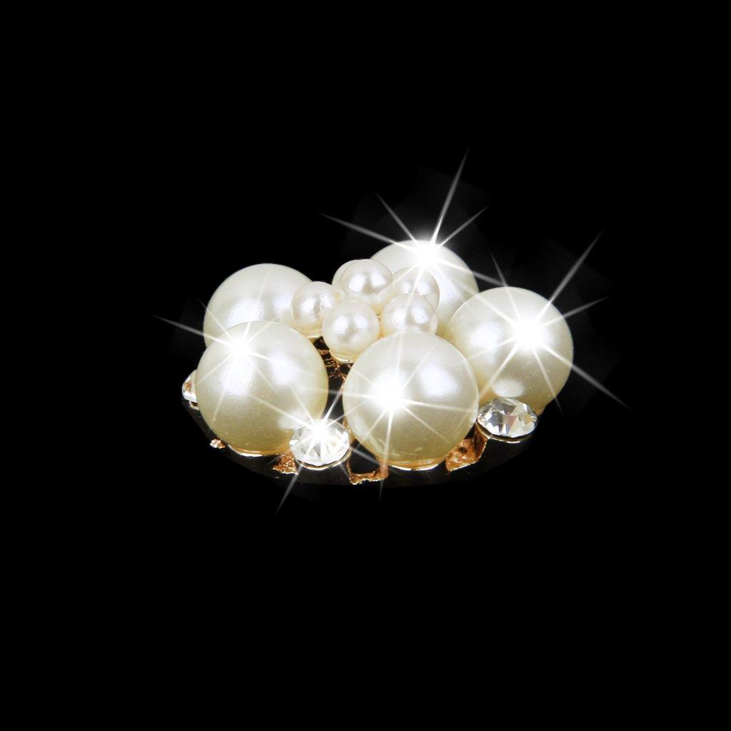 10pcs Bouton Strass Perle 3D Autocollant DIY Coque Mercerie Fleur 25mm