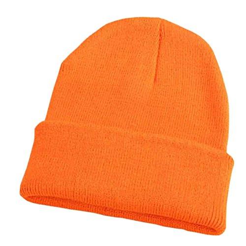 DLDHJSZ Long Cuff Knitted Cap Winter Hats for men women Ski Hat Caps