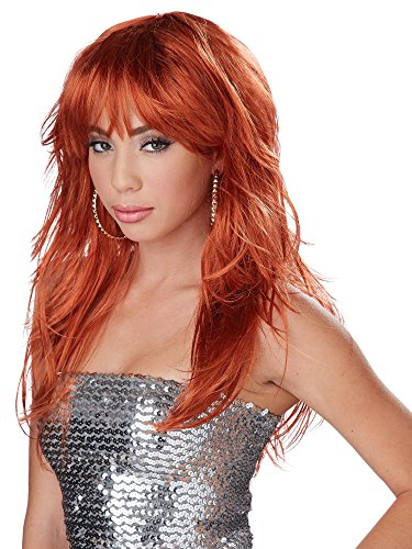 California Costumes Women's Fever! Wig 70's 80's Disco Pop Dance Diva, Red, One Size