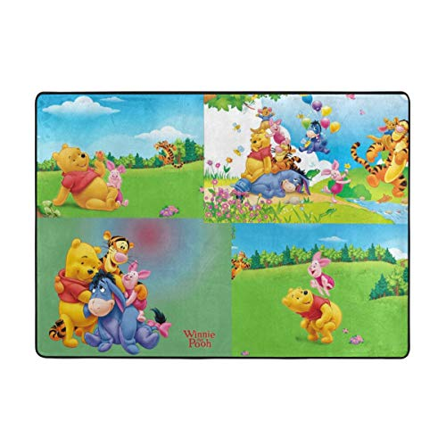 Super Soft Indoor Winnie The Pooh Area Rugs Anti-Skid Dining Room Home Bedroom Carpet Floor Mat 80 X 58 Inches