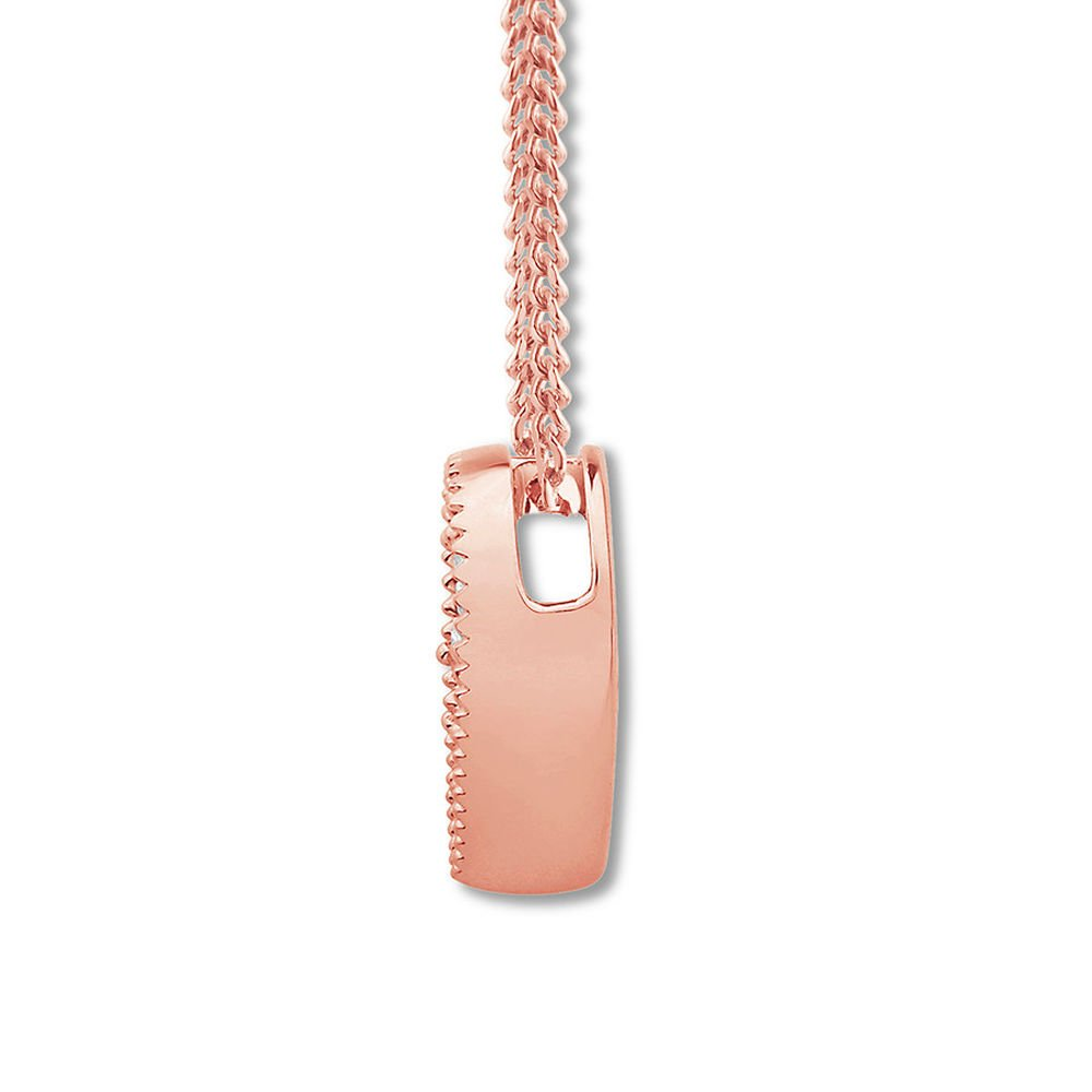 Valentine/'s Day Love Gift Created Diamond Heart Necklace 1//8 ct tw 14K Rose Gold Plated