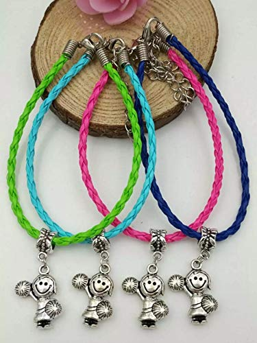 - Multicolor Bracelet | Tibetan Silver Charm Paint Blending Braided Rope Bracelet | for Women Gift (Green)