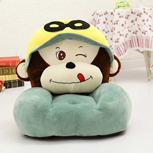 MAXYOYO Cute Monkey PP Cotton Stuffed Plush Toy Bean Bag Chair,Cartoon Monkey Velvet Sofa Seat,Soft Children Plush Chairs (monkey 1)
