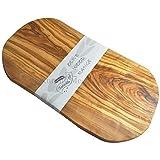 Naturally Med - Tagliere in legno d'oliva, 35 cm