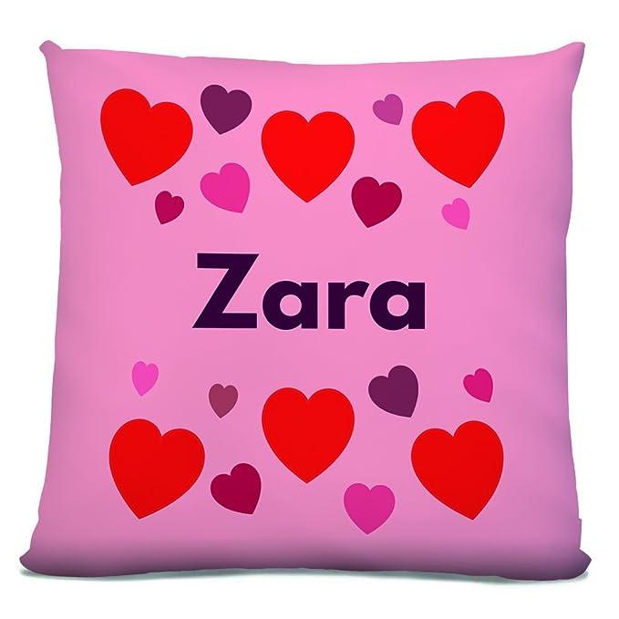 Zara, personalizable hembra nombre de corazones diseño de ...