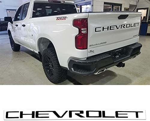 idingxin 3D Raised Tailgate Inserts Letters fit for Chevrolet Silverado 2019 Black