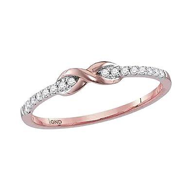 Amazon 10kt Rose Gold Womens Round Diamond Infinity Knot