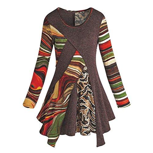 Women's Tunic Top - Desert Rainbow Long Sleeve Layered Shirt - 1X