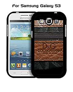 Galaxy S3 Funda Case Brand Logo D&G Unique Pattern Tough Snap On Extra Thin Vintage Compatible with Samsung Galaxy S3 i9300