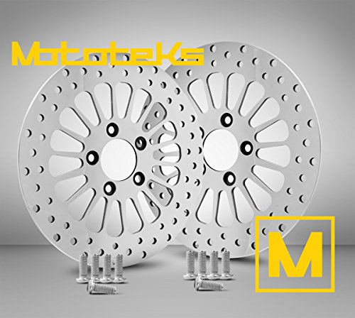 Dual Disc Front Brake - 11.8 Front Brake Stainless Steel Rotors w/ Hardware for Harley Davidson Touring Bagger Models fits 2008 Above