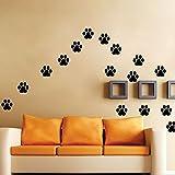 AA Walking Paw Prints Wall Decal Home Art Decor Dog Cat Food Dish Room Sticker