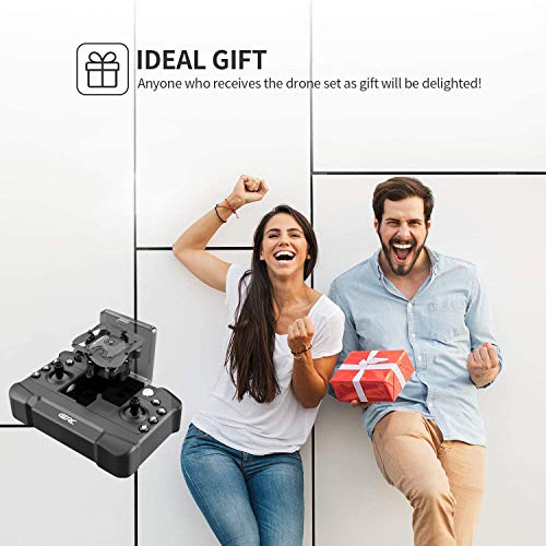 4DRC V2 Foldable Mini Drone for Kids Beginners,RC Nano Quadcopter Pocket Drone for Kids Gift Toys ,With Altitude Hold, Headless Mode, 3D Flips, One Key Return and Speed Adjustment and 3 Batteries