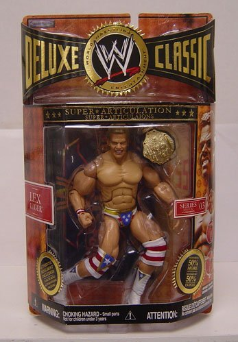 WWE Jakks Pacific Wrestling Exclusive Deluxe Classic Superstars Series 3 Action Figure Lex Luger