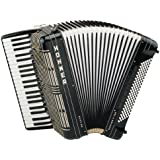 Hohner Morino V 120 Bass De Luxe Piano Accordion, Black
