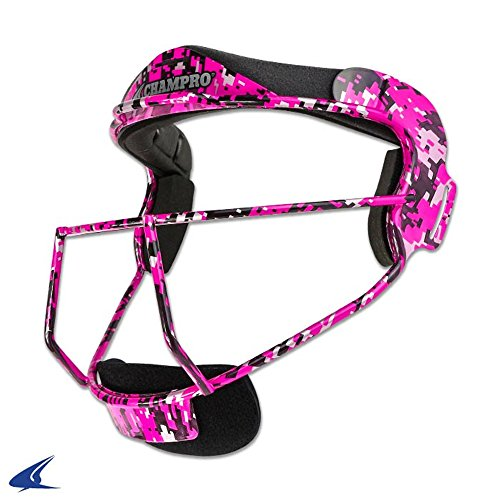(CHAMPRO DEFENSIVE SOFTBALL FACEMASK GRILL YOUTH FASTPITCH cmo1 youth Hot Pink YOUTH)