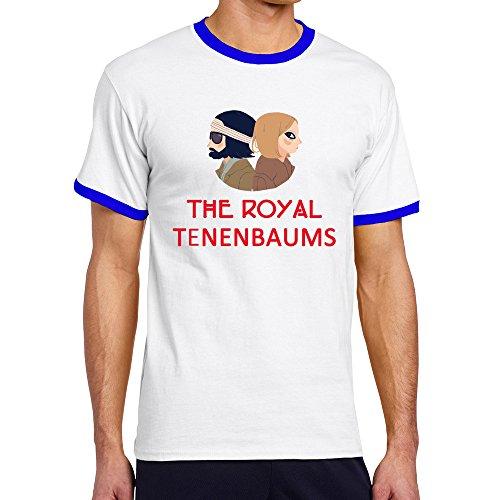 Men's Cool The Royal Tenenbaums Contrast Ringer Tshirt L - Tenenbaums Margot