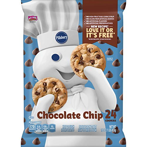 (Pillsbury Ready to Bake Refrigerated Cookies Chocolate Chip with Hershey's Chocolate Chips 24 Count 16.0 oz)
