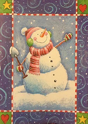 (18) Whimsical Colorful Snowman Holiday Cards - White Envelopes- Holiday happiness...