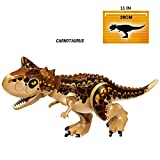 Honneth Jurassic World Dinosaur Toys Figures Large Size Dino Building Block Playset Gift for Kids (Carnotaurus Brown, Large Size)
