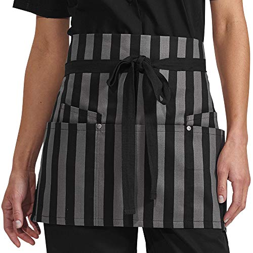 Now Designs Striped Apron - Bold Stripes Waist Apron with Grommets