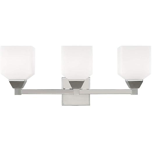 Amazon.com: Vanity - Lámpara de baño (3 focos, acero cromado ...