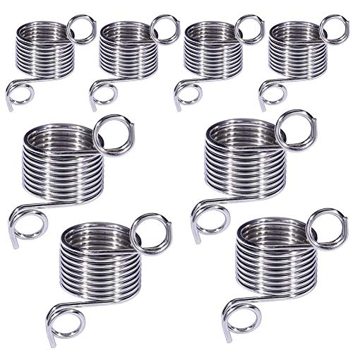 8 Pack 2 Size Metal Yarn Guide Finger Holder Knitting Thimble for Crochet Knitting Crafts Accessories Tool, 19 MM and 17 MM