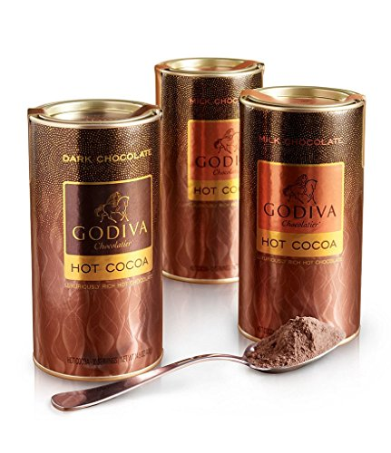 Godiva Chocolatier Hot Cocoa Variety Pack Holiday Gift, Set of 3