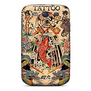 Kso688oWdI Case Cover Protector For Galaxy S3 Japanese Tattoo Case