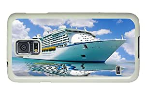 Hipster most protective Samsung S5 Cases Big Cruise Ship PC White for Samsung S5