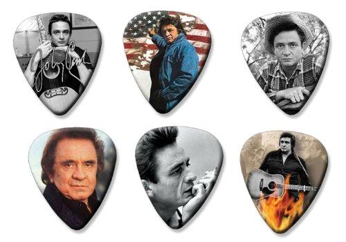 Johnny Cash Set of 6 Loose Gitarre Plektrum Plektron Picks ( Collection C )