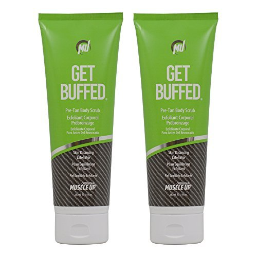 Get Buffed Pro-Tan Body Scrub Skin Balancing Exfoliator 8oz''Pack of 2''