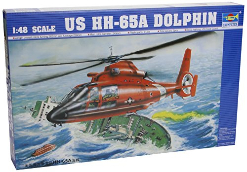 Trumpeter 1/48 HH65A Dolphin Search and Rescue US Coast Guard Helicopter Model Kit