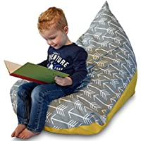 Four Brothers Bean Bag Chair for Kids Gray Arrows