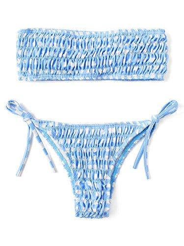 Frill Bandeau Bikini Set in Australia - 6