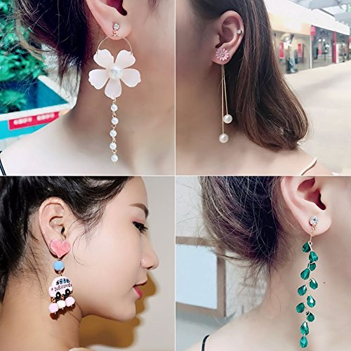 Spike Geometric (Buy 2 Get 1 spike Ja and South Korea geometric earrings earrings temperament Korean fashion earrings non pierced ear clip female Korean)