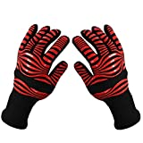 Sunfire-Light speed Breathable Resistant Dirt Barbecue Gloves BBQ Oven Mitts Heat Resistant BBQ Gloves,XL Washable BBQ Grill Gloves Men baking Gloves BBQ Prep Gloves,Latex Knit BBQ Long Cuff Gloves