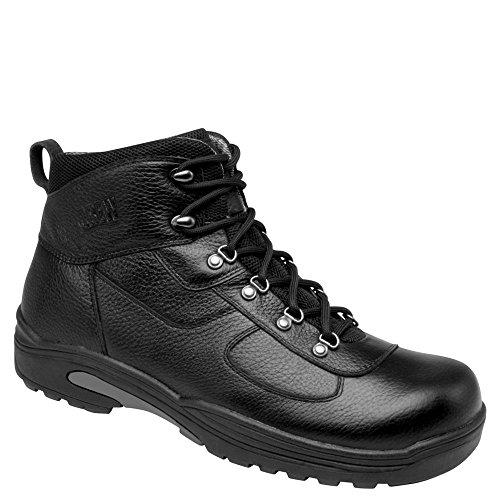Drew Mens Rockford Waterproof Boot Black Tumbled Leather Us 16 6E