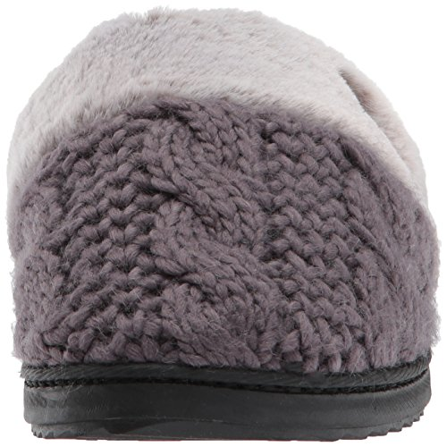 Dearfoams Mujeres Cable Knit Closed Toe Scuff Excalibur