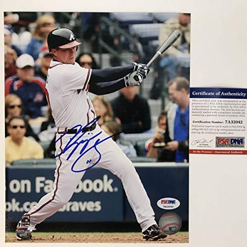 Autographed/Signed Chipper Jones Atlanta Braves 8x10 Baseball Photo PSA/DNA COA #2