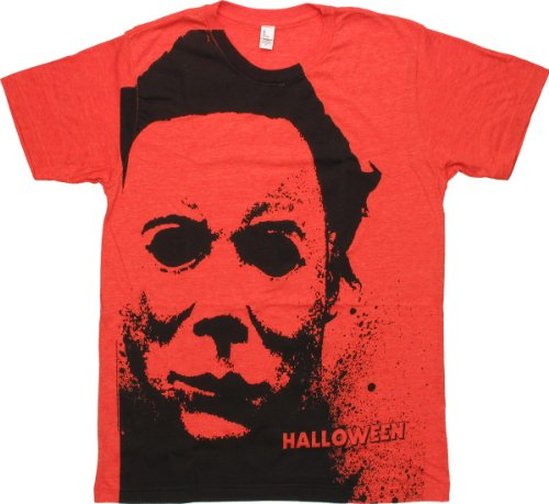 (Halloween - Splatter Mask (Slim Fit) T-Shirt Size)