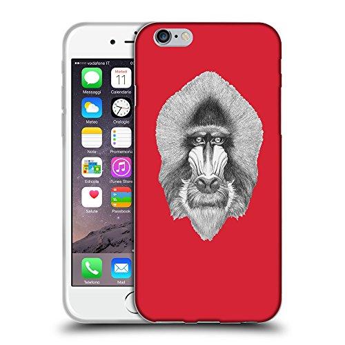 "GoGoMobile Coque de Protection TPU Silicone Case pour // Q05400601 Portrait mandrill Alizarine // Apple iPhone 6 PLUS 5.5"""